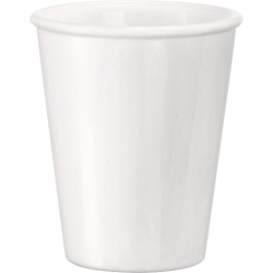 Kubek do wody, soku bez ucha, Aromateca, biały, V 0.215 l