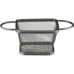 Koszyk do serwowania potraw, czarny, 100x80x70 mm