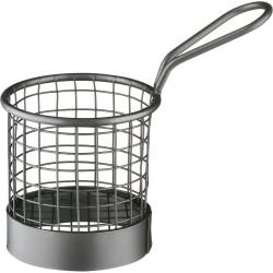 Koszyk do serwowania potraw, czarny, Ø 80 mm