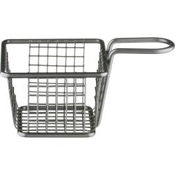 Koszyk do serwowania potraw, czarny, 100x100x70 mm