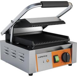 Kontakt grill pojedynczy, ryflowany, Caterina, P 1.8 kW