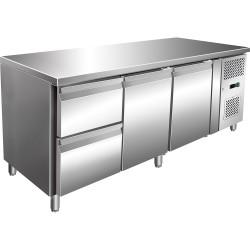 Stół chłodniczy 2 drzwiowy z szufladami, agregat po prawej stronie
