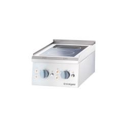 Kuchnia ceramiczna, 2-polowa, nastawna, P 5 kW