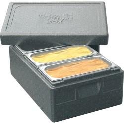 Pojemnik termoizolacyjny, czarny, 600x400x270 mm