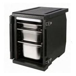 Pojemnik termoizolacyjny, czarny, 12 x GN 1/1 20 mm