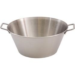 Wanna, miska stalowa z uchwytami, Ø 400 mm, V 14,5 l